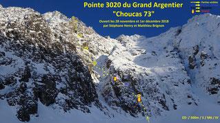 Grand Argentier topo massif du Thabor goulotte mixte Choucas 73 guide de haute montagne