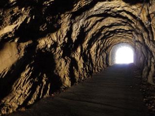 海沢トンネル内部