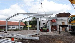 Hallen Neubau Sargfarbik Pollmer