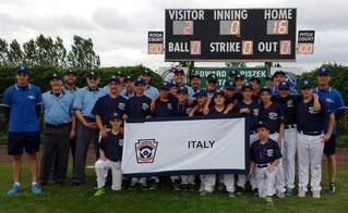 La squadra Little League dell'Emilia Romagna che a Kutno difenderà i colori dell'Italia