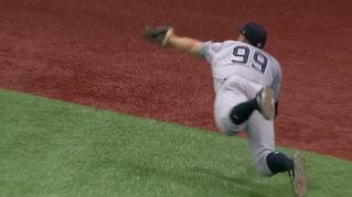 Nella foto Aaron Judge esterno degli Yankees
