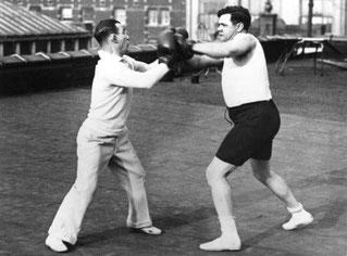 Babe Ruth si allena da pugile (Getty image)