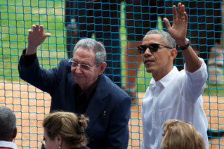 Raul Castro e Barack Obama alla partita di baseball disputatata a Cuba (Photo: Reuters)