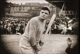 "Un fotogramma del film ""Headin' Home"" interpretato da Babe Ruth nel 1920"
