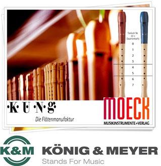 Blockflöten Küng & Moeck - Notenständer König&Meyer
