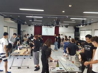 鹿児島県理容組合にてニューヘアー『Leap』の実技講習会が開催された。(2019.9.30)