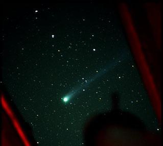 Komet Hyakutake, Foto: Michael Endig, Sternwarte Neumarkt