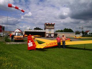 Bild von links nach rechts: Robert Günther (Pilot und technische Leitung) , Hans Wagner (Pilot und Vorstand) Fotograf: Chris Brandl : 10. Sept 2017