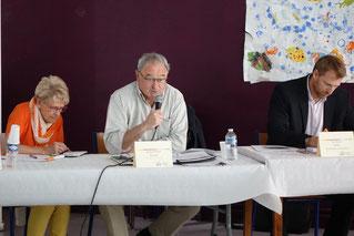 De gauche à droite : Françoise Roussel, Jacques Charpié, et Éric Habets, commissaire aux comptes.