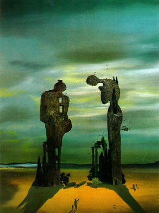 """Картины Сальвадора Дали (1931 - 1940) - Археологический отголосок """"Анжелюса"""" Милле  (1936)"""