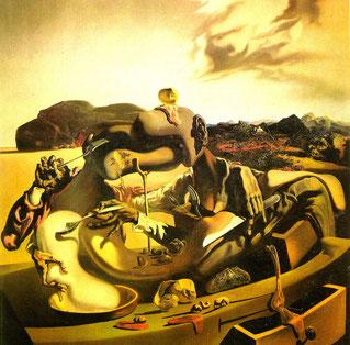 Картины Сальвадора Дали (1931 - 1940) - Осенний каннибализм (1936)