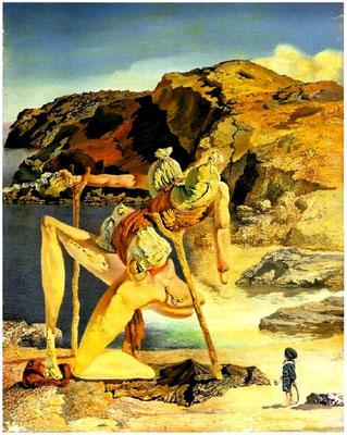 Сальвадор Дали - картины 1931 - 1940. Призрак сексуальной привлекательности (1934)