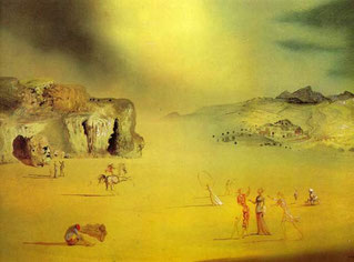 Обычный языческий пейзаж - картины Сальвадора Дали