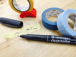 セントロペンからペン先0.3mmの油性マーカー入荷しました!マステに書くのに最適!くるくるはおススメできませんが。。