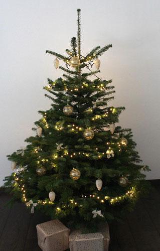 echter geschmückter Weihnachtsbaum