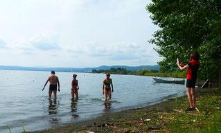 Italien, Toskana, Urlaub, Radreisen, Velotraum, Radfahren, Lago di Bolsena, Bolsena, baden, See