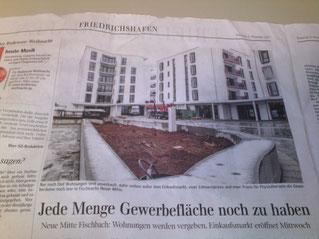 Neue Mitte Fischbach in der Schwäbischen Zeitung.