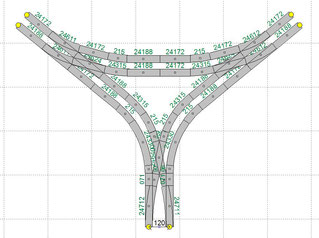 Gleisabstand Bahnhof = 120mm