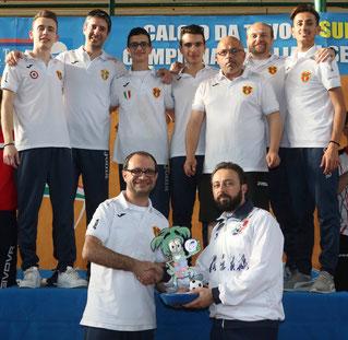 Il Messina premiato come vincitore della serie B 2015/16