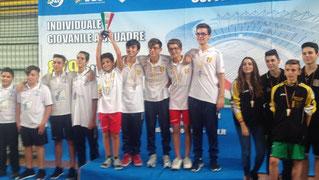 il podio della Coppa Italia Juniores a squadre 2016/17