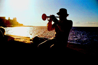 an der Strand-Promenade - Abschied von Havanna