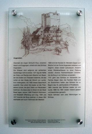 Burgzeichnung auf Plexiglas, 2014