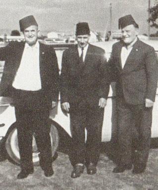 Adem Delić, Ibrahim vitez Pjanić i Omer Vrabac na Bleiburškom polju