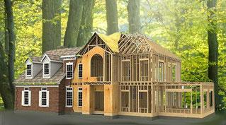 casa de entramado ligero de madera
