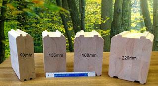 troncos de madera maciza