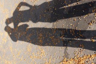 Schatten von 2 Personen Besenbeiz Sool