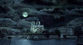 Notre-Dame de Paris, la nuit