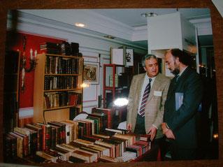 En el Salón Internacional del Libro Antiguo con Rogelio Blanco, Director Gral. del Libro, Ministerio. de Cultura