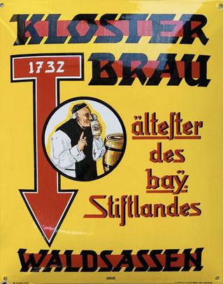 """Werbeschild """"Klosterbrau Waldsassen"""", um 1920 (Bild: Tom Weiskircher)."""