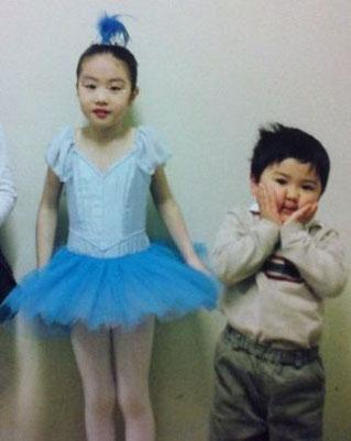 左・娘(当時7歳)、右・息子(当時3歳)
