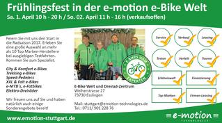 Frühlingsfest in der e-motion e-Bike Welt Stuttgart