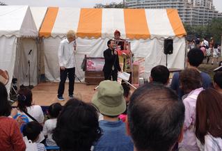 名古屋お笑い芸人 ファニーチャップ 千種区民祭りで漫才