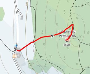 Route auf den Koglerauer Spitz bei Linz