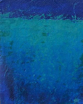 「四角い青」アクリル・パネル F3
