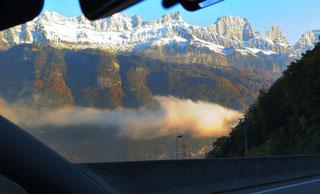 Walensee, Churfirsten Schweizer Berge