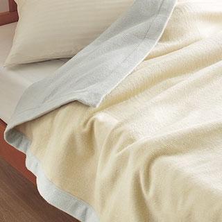 ふわっと、やさしい肌ざわりで素肌美人のシルク毛布 西川リビング