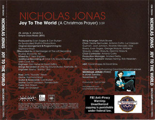 nicholas nick jonas brothers joy to the world a christmas prayer young