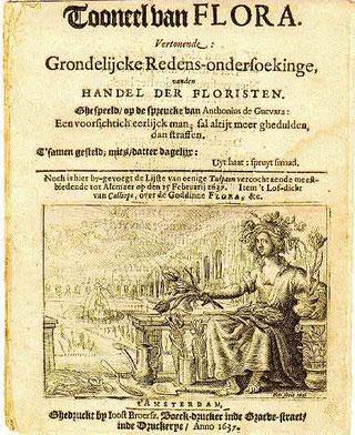 Flugplatt Tulpenauktion 1637