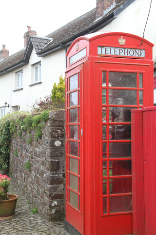 Phone box in the village square