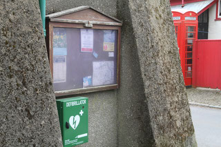 The defibrillator in the village square