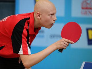 Mit Power-Tischtennis zum Erfolg. Sierndorfs Dominik Tarmann ist heiß auf die Bundesliga. Copyright: Österreichische Tischtennis Bundesliga / Franz Krestan