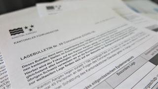 Lagebulletin des Kantons Aargau während Corona-Krise (Papiere)