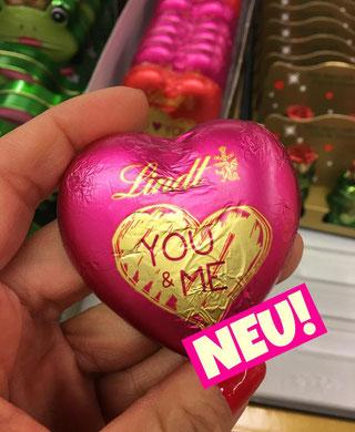 Lindt Schokoladen Herzen Valentinstag