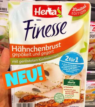 Herta Finesse Hähnchenbrust mit gerösteten Kürbiskernen