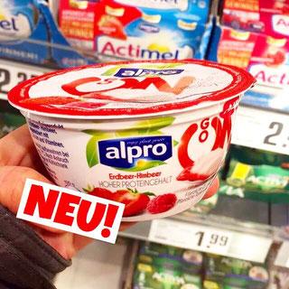 Alpro GO on Erdbeer-Himbeer