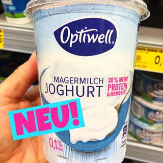Optiwell Magermilch Joghurt 30% mehr Protein